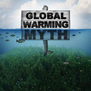 Global Warming Myth: Skilt neddykket i vann.